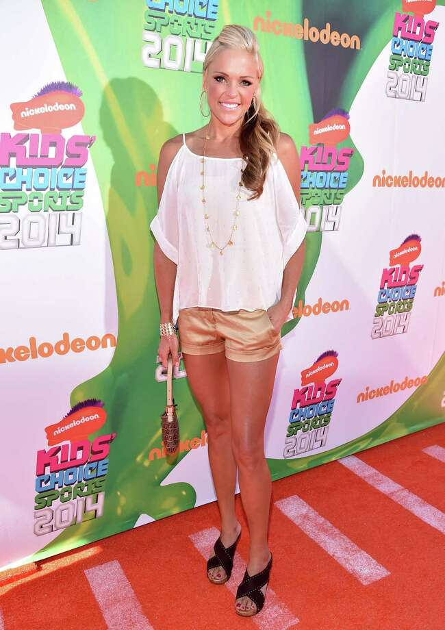 Softball player Jennie Finch attends Nickelodeon Kids' Choice Sports Awards 2014 at UCLA's Pauley Pavilion on July 17, 2014 in Los Angeles, California. Photo: Alberto E. Rodriguez, Getty Images For Nickelodeon / 2014 Getty Images