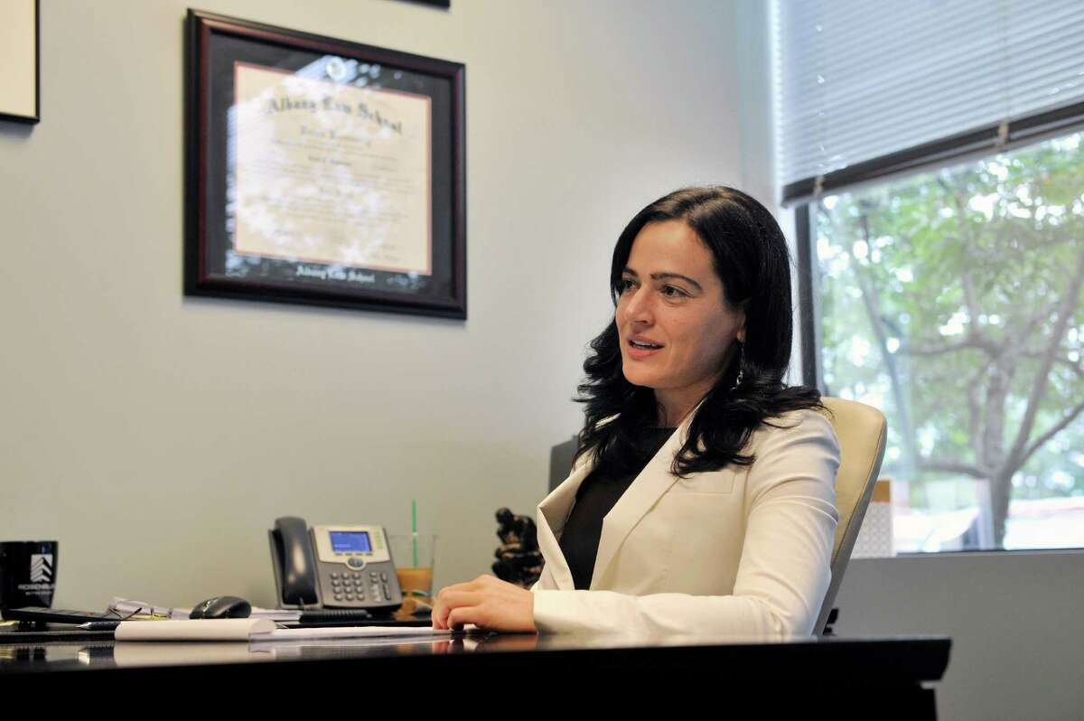 Lawyer, Ariel Solomon, talks in her office about her some of her clients who work in the Veterans Administration system, during an interview on Thursday, July 17, 2014, in Albany, N.Y. (Paul Buckowski / Times Union)