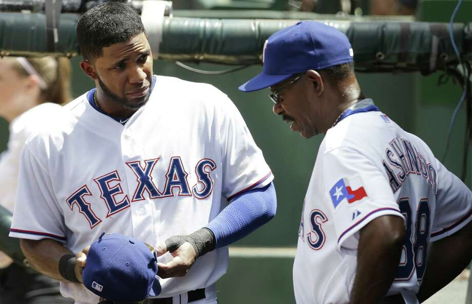 "The Rangers are a major-league worst 38-57, have 15 players on the DL and are on an eight-game skid. ""It's been tough,"" manager Ron Washington (right) said. Photo: LM Otero / Associated Press / AP"
