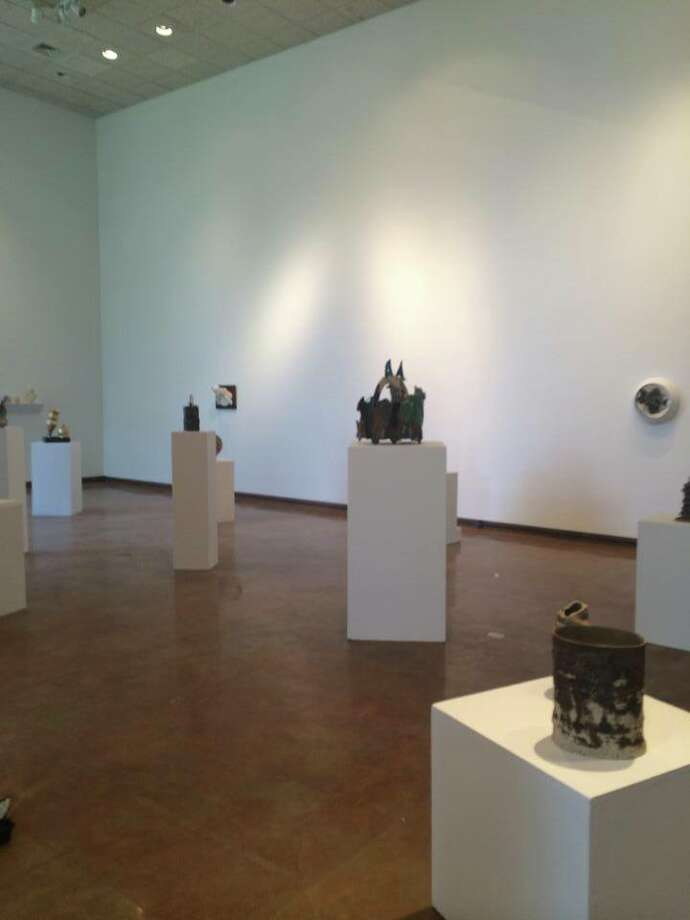 Installation of Emerging Ceramic Artists. Photo via the Dishman's Facebook page