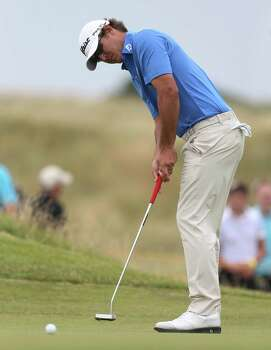 Brooks Koepka of the US putts on the 6th green during the second day of the British Open Golf championship at the Royal Liverpool golf club, Hoylake, England, Friday July 18, 2014. (AP Photo/Peter Morrison) Photo: Peter Morrison, Associated Press / AP
