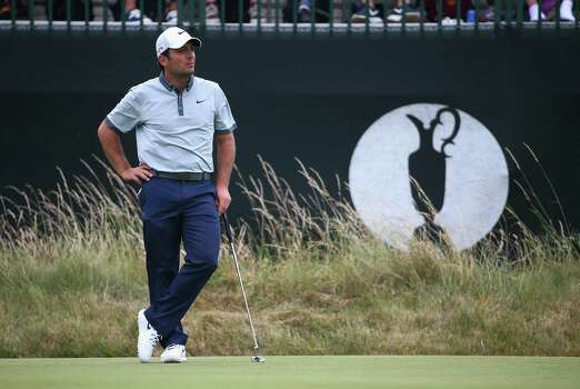 HOYLAKE, ENGLAND - JULY 18:  Francesco Molinari of Italy waits on the third green during the second round of The 143rd Open Championship at Royal Liverpool on July 18, 2014 in Hoylake, England. Photo: Matthew Lewis, Getty Images / 2014 Getty Images