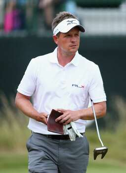 HOYLAKE, ENGLAND - JULY 18:  Luke Donald of England consults his yardage book during the second round of The 143rd Open Championship at Royal Liverpool on July 18, 2014 in Hoylake, England. Photo: Matthew Lewis, Getty Images / 2014 Getty Images