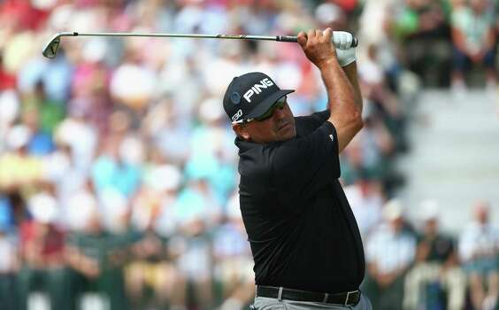 HOYLAKE, ENGLAND - JULY 18:  Angel Cabrera of Argentina hits his tee shot on the fourth hole during the second round of The 143rd Open Championship at Royal Liverpool on July 18, 2014 in Hoylake, England. Photo: Matthew Lewis, Getty Images / 2014 Getty Images