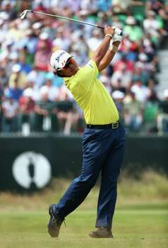 HOYLAKE, ENGLAND - JULY 18:  Hideki Matsuyama of Japan hits his tee shot on the fourth hole during the second round of The 143rd Open Championship at Royal Liverpool on July 18, 2014 in Hoylake, England. Photo: Matthew Lewis, Getty Images / 2014 Getty Images