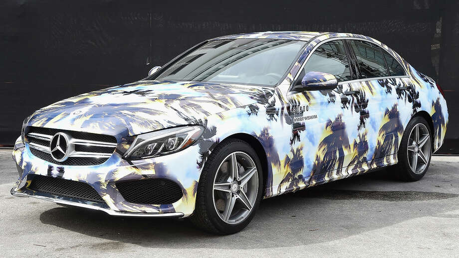 A 2015 Mercedes-Benz C-Class featuring an exclusive design by Suboo on display  during Mercedes-Benz Fashion Week Swim 2015 at The Raleigh on July 17, 2014 in Miami Beach, Florida. Photo: Mike Coppola, Getty Images For Mercedes-Benz / 2014 Getty Images