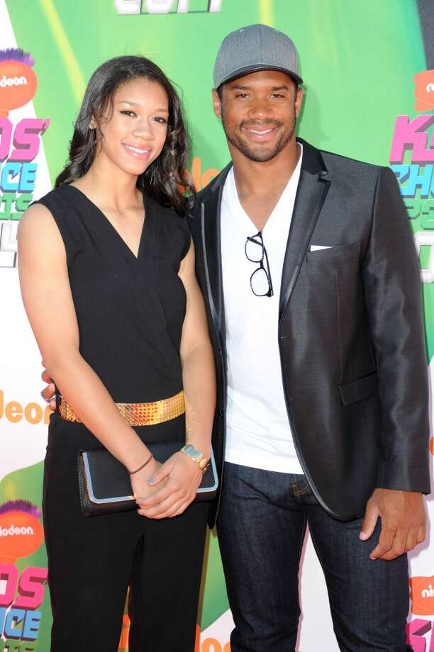Russell Wilson (R) and his sister Anna Wilson attend Nickelodeon Kids' Choice Sports Awards 2014 at Pauley Pavilion on July 17, 2014, in Los Angeles. Photo: Allen Berezovsky, WireImage