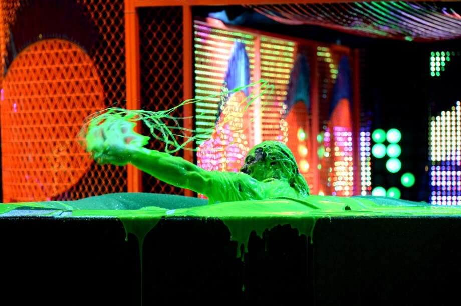 Marshawn Lynch gets slimed onstage during the Nickelodeon Kids' Choice Sports Awards 2014 at UCLA's Pauley Pavilion on July 17, 2014, in Los Angeles. Photo: Kevin Mazur/KCSports2014, WireImage
