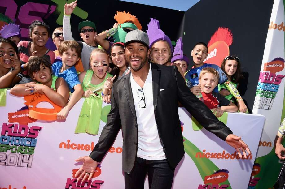 Russell Wilson attends Nickelodeon Kids' Choice Sports Awards 2014 at UCLA's Pauley Pavilion on July 17, 2014, in Los Angeles. Photo: Michael Buckner, Getty Images