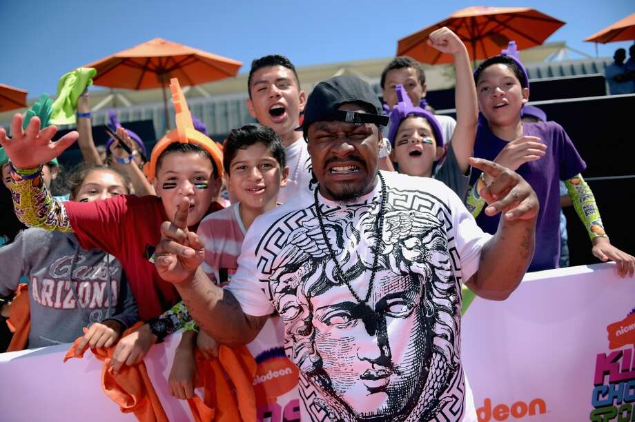 Marshawn Lynch attends Nickelodeon Kids' Choice Sports Awards 2014 at UCLA's Pauley Pavilion on July 17, 2014, in Los Angeles. Photo: Jason Kempin, Getty Images