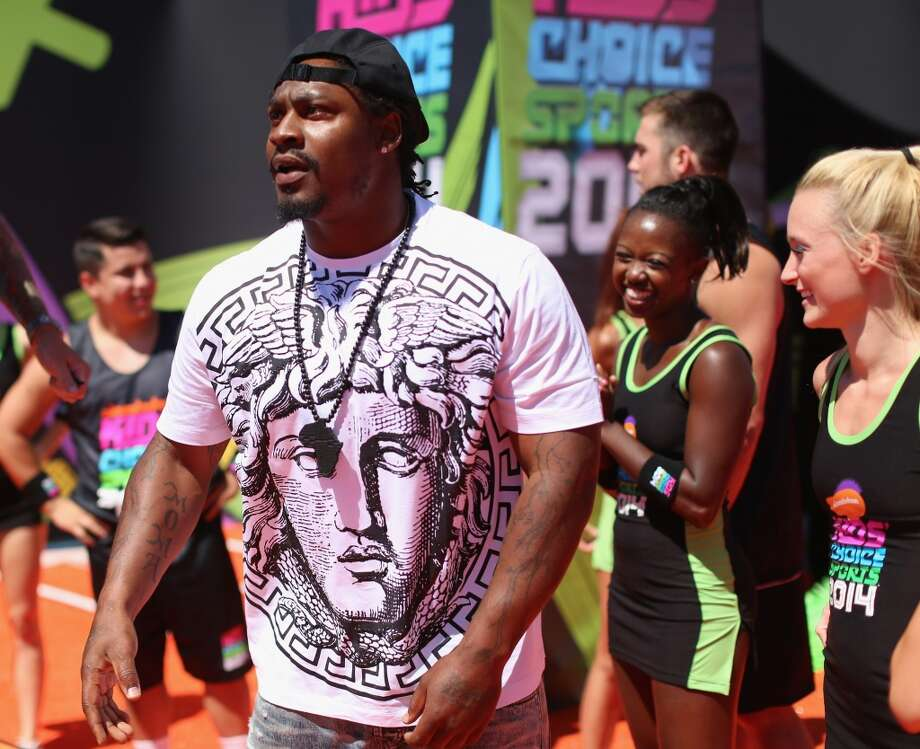 Marshawn Lynch attends Nickelodeon Kids' Choice Sports Awards 2014 at UCLA's Pauley Pavilion on July 17, 2014, in Los Angeles. Photo: Mark Davis, Getty Images