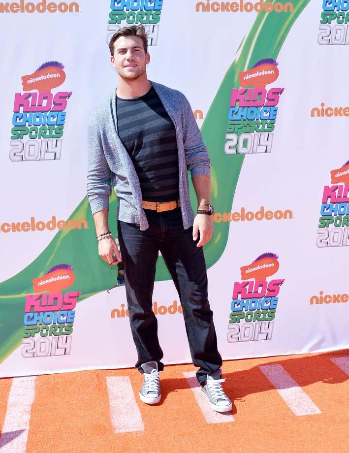 Seahawks tight end Cooper Helfet arrives at the Nickelodeon Kids' Choice Sports Awards on July 17, 2014, in Los Angeles. Photo: Amanda Edwards, Getty Images