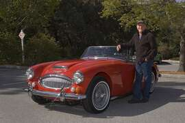Photos of Mike Naughton and his 1967 Austin Healey 3000 MKII photographed at the Pulgas Water Temple on Ca–ada Road, San Mateo, on April 23, 2014.