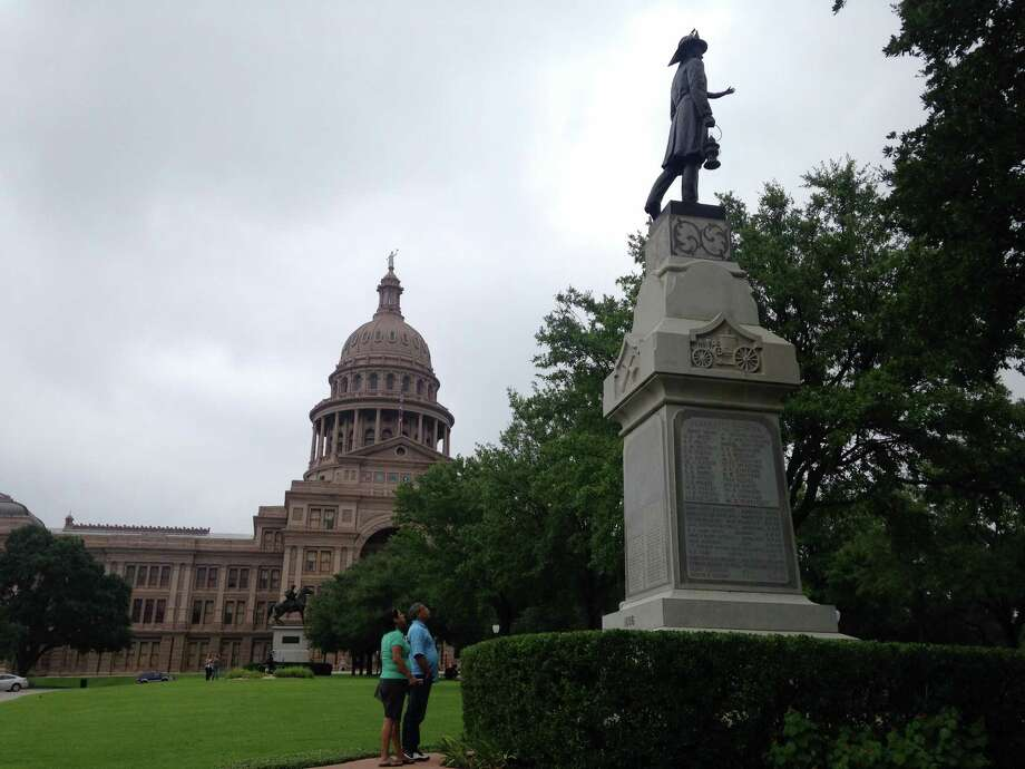 A Texas memorial housed on the Texas Capitol's grounds has run out of room to honor the state's fallen volunteer firefighters. Photo: Joshua Fechter/San Antonio Express-News