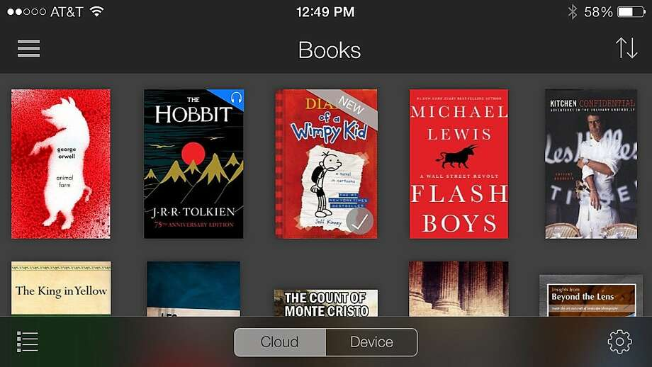An iPhone screenshot shows a row of books available through Amazon's Kindle Unlimited subscription service, which costs $9.99 a month. Photo: Uncredited, Associated Press