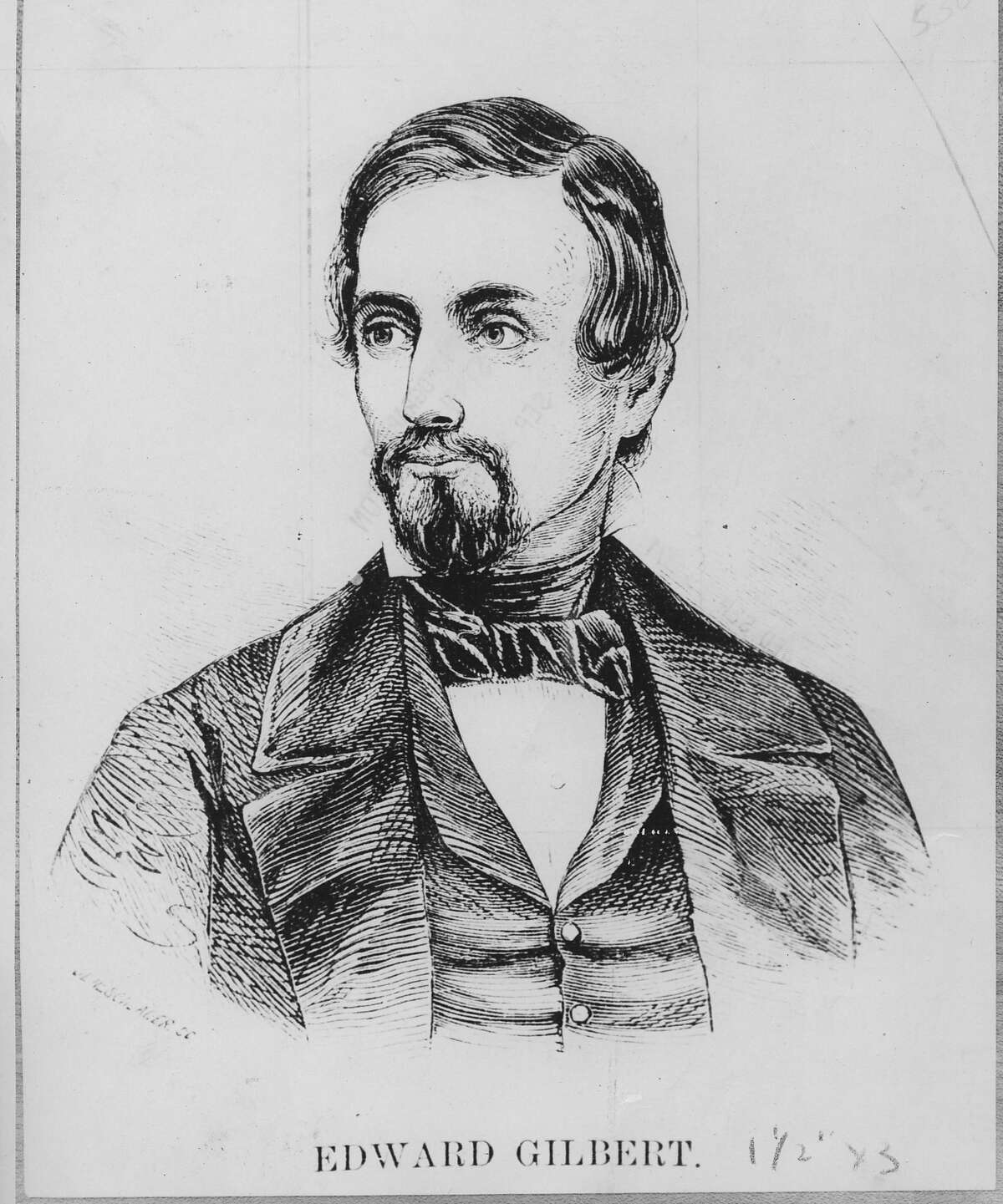 Edward Gilbert, San Francisco journalist who would be shot and killed in a duel with James W. Denver in the 1850s. Handout photo