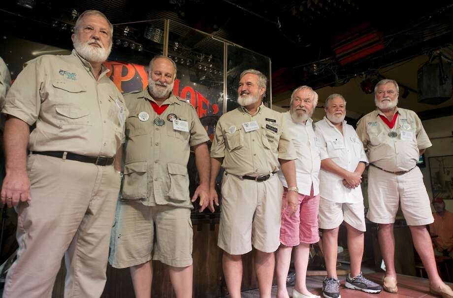 The importance of being Ernest:Every year Sloppy Joe's Bar in Key West, Fla., holds a Papa Hemingway Look-Alike Contest. All bearded old guys in shorts are invited to compete. Photo: Andy Newman, Associated Press