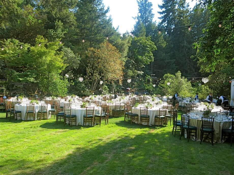 A verdant grove upon the grounds of the 5-star Meadowood Resort set the stage for a gala in support of Festival del Sole. Photo: Catherine Bigelow
