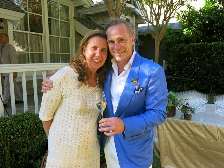 Vintners Gina Gallo and her husband, Jean-Charles Boisset, served up their primo vino at the Meadowood Gala. Photo: Catherine Bigelow