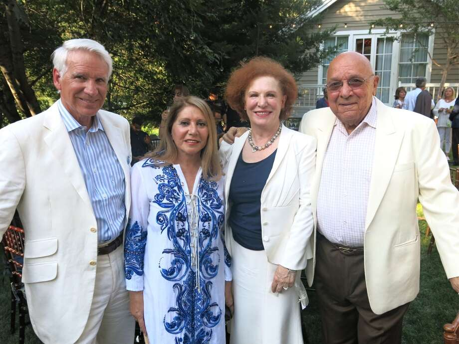 This year's Festival del Sole was dedicated to board member Timothy Blackburn and his wife, Athena Troxel Blackburn (at left), with Romana and John Bracco. Photo: Catherine Bigelow