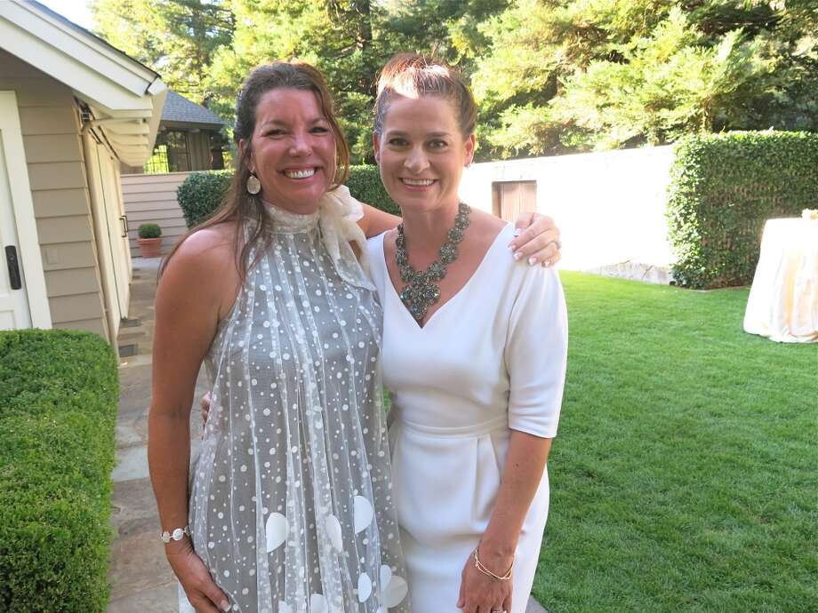 Michelle Baggett (left) with Claire Stull, who hosted the Founders' Dinner which kicked-off this music and wine festival. Photo: Catherine Bigelow