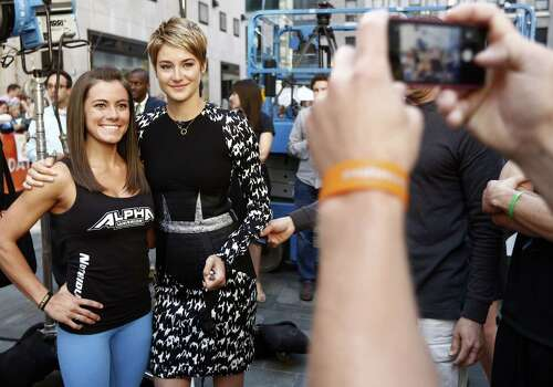 "Catanzaro appears with actress Shailene Woodley  on the NBC News ""Today"" show. Photo: NBC NewsWire / 2014 NBCUniversal Media, LLC."