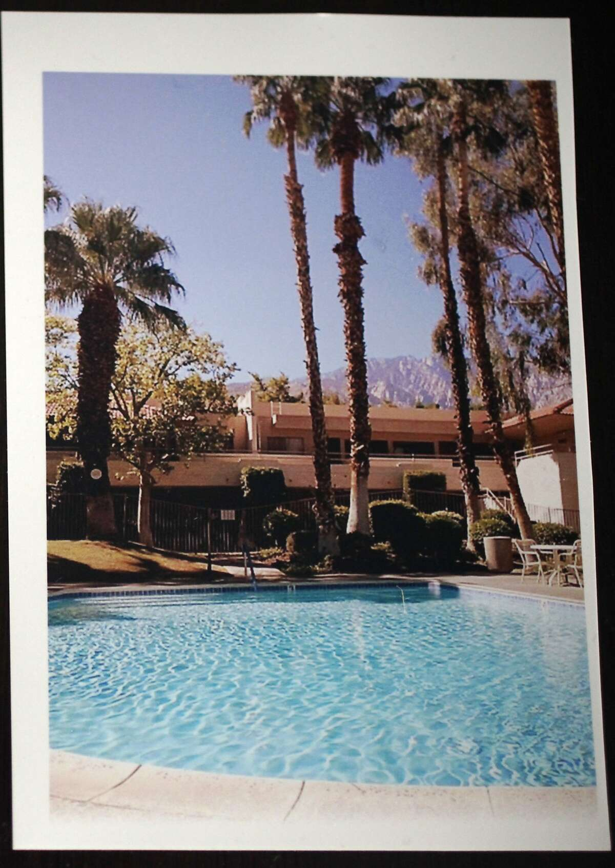 A photograph of a pool near Cory Tschogl's Palm Spring's home taken in the last year. Tschogl, who is a vision rehab therapist, wanted to purchase property, but couldn't afford anything in San Francisco, so she bought a 600 square foot, 1 bedroom place in Palm Springs in May, 2013. She spent about three months working with her father and sister doing interior remodeling work and had the place up on Airbnb by early fall. Her home was reserved by a man and his brother from May 25-July 8, 2014. After staying at her home for 30 days, the client suddenly stopped paying. On the day that the reservation was up, Tschogl sent him a message telling him he had 24 hours to leave before she turned off the power. The man refused to leave and threatened to take legal action against her over various claimed damages, including health problems from drinking the tap water. Because he has been in her home for 30 days, he has tenant rights under California tenant law. Tschogl is now in the eviction process, which could take months and cost her thousands of dollars.