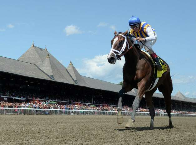 Fashion Alert with jockey John Velazquez wins the 96th running of The Schuylerville, the feature race on the first day of the 2014 Saratoga Race Course meeting Friday afternoon July 18, 2014 in Saratoga Springs, N.Y.    (Skip Dickstein / Times Union) Photo: SKIP DICKSTEIN, ALBANY TIMES UNION