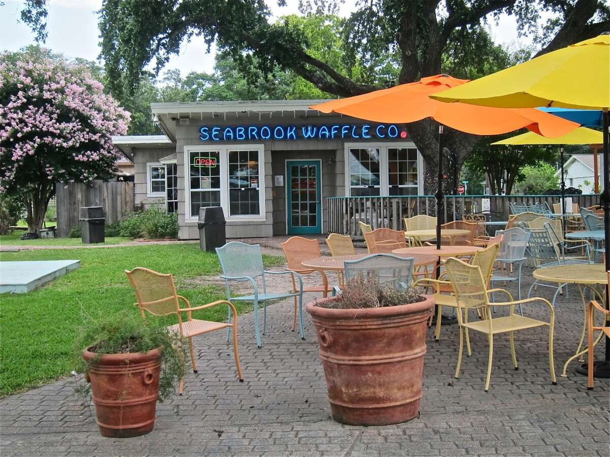 Seabrook Waffle Company sits on a quiet, shady block in Old Seabrook.