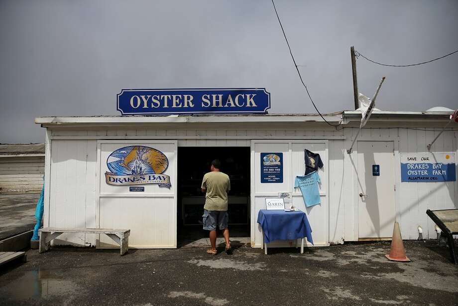 A customer enters the Oyster Shack at Drakes Bay Oyster Co. on July 10, 2014 in Inverness, California.  After a 19 month legal battle with the federal government, Drakes Bay Oyster Co. is beginning to wind down operations a week after the U.S. Supreme Court rejected an appeal by Drakes Bay Oyster owner Kevin Lunny. Lunny had asked the Supreme Court to review his case against the U.S. Park Service to renew the lease for his oyster farm that operates on Drakes Estero which is on federal land and Congress has designated as a marine wilderness. The 9th U.S. Circuit Court of Appeals had ruled against an injunction sought by Lunny to stay in business following former Interior Secretary Ken Salazar's decision to not issue a new operational permit and extend the lease of the land for the oyster company. Photo: Justin Sullivan, Getty Images