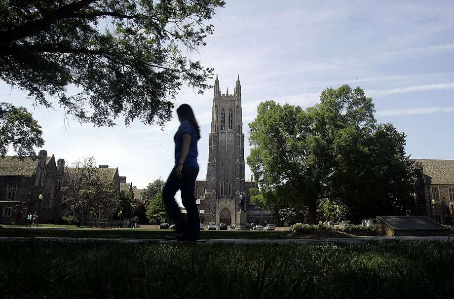 "Would anybody really confuse Duke University, above, with John ""The Duke"" Wayne? That's at the crux of a lawsuit. Photo: Jim R. Bounds, Bloomberg News"
