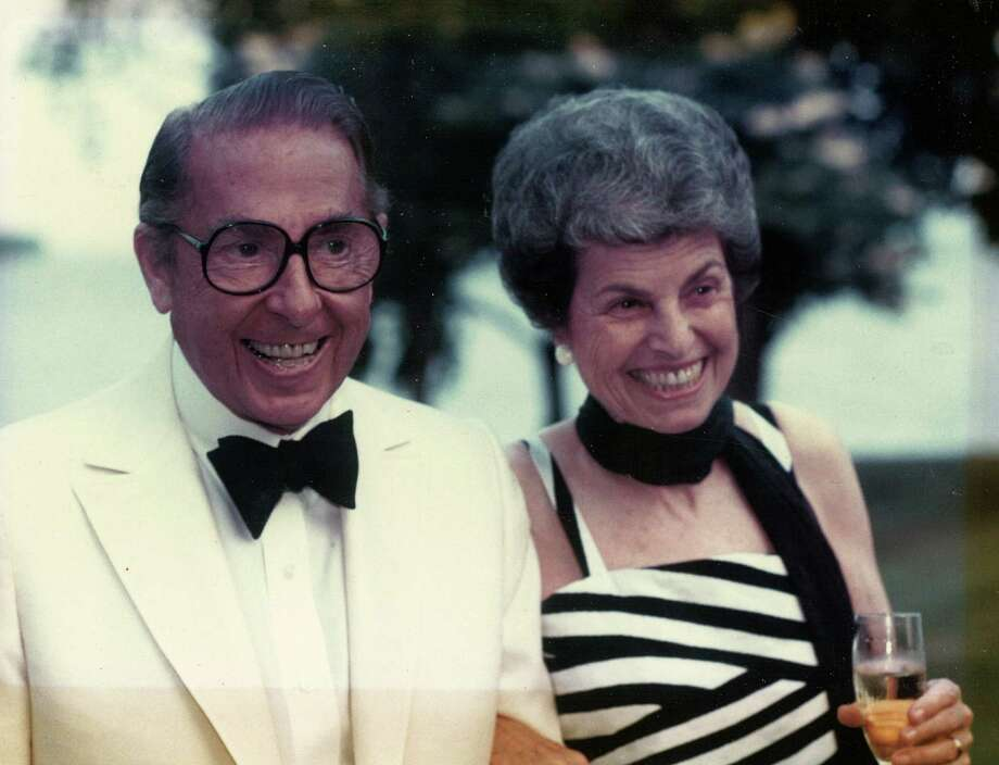 Mortimer and Mimi Levitt, are seen seen in a photo from the early years of the outdoor performance pavilion named after them. Mimi Levitt and a foundation set up by her and her late husband have donated a total of $4.5 million to the center, the largest gift in its 40-year history. Photo: Contributed Photo / Westport News