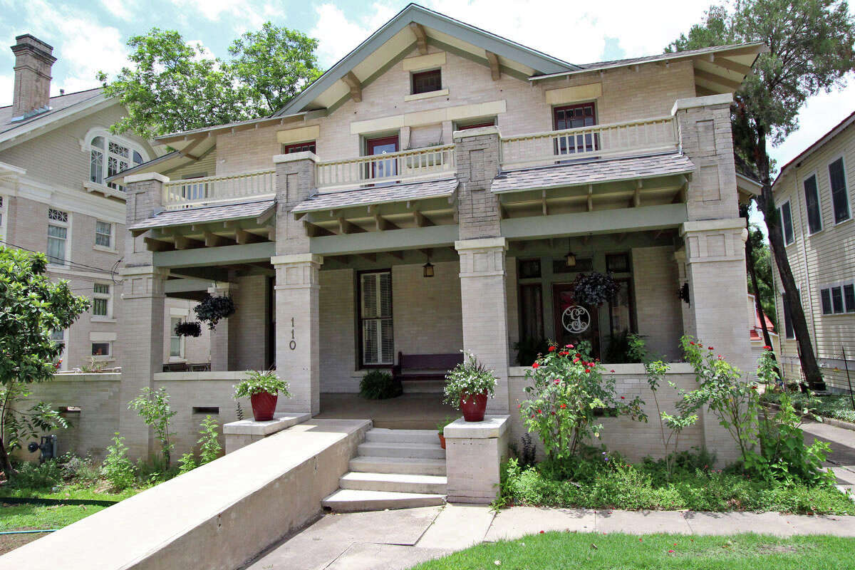 The two-story brick Monte Vista house was built in 1910.