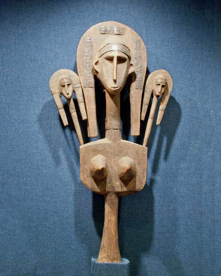 A Janus Marionette is among objects on view at the Altharetta Yeargin Art Museum.