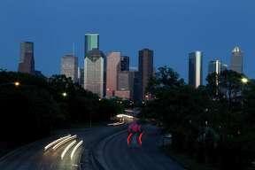Downtown Houston Skyline on May 14, 2014, in Houston, Tx. ( Mayra Beltran / Houston Chronicle )