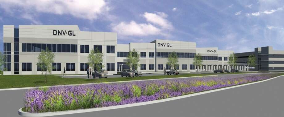 Rendering shows the expanded offices in Katy of Norwegian company DNV GL. Photo: Powers Brown