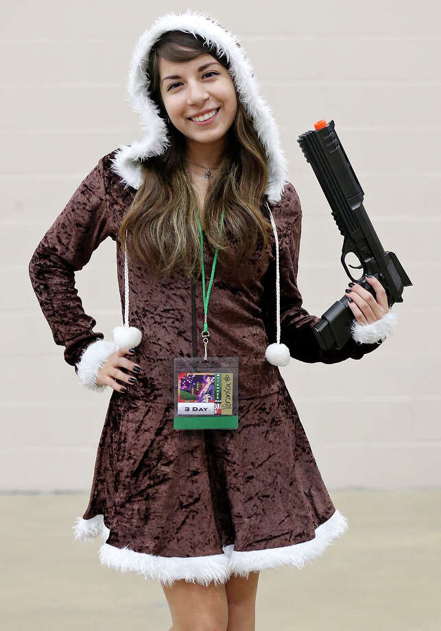"Portrait of Veronica Chavarria, 18, as ""Katsu"" during San Japan: Samurai 7 held Friday July 18, 2014 at the Henry B. Gonzalez Convention Center. Photo: Edward A. Ornelas, San Antonio Express-News / © 2014 San Antonio Express-News"