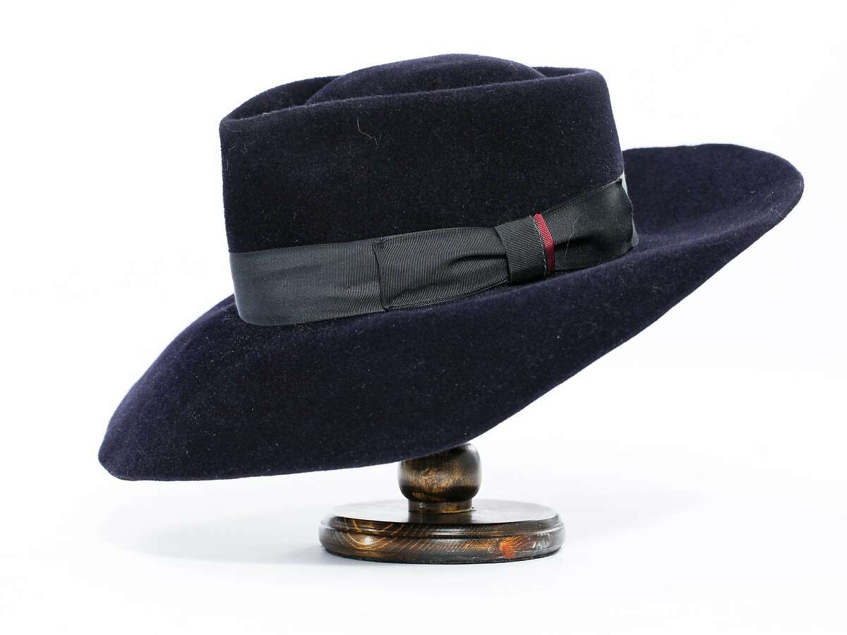 A Wide-brimmed Fedora by Ron Schiller of Blue Monday Hats is seen on Friday, July 18, 2014 in San Francisco, Calif.