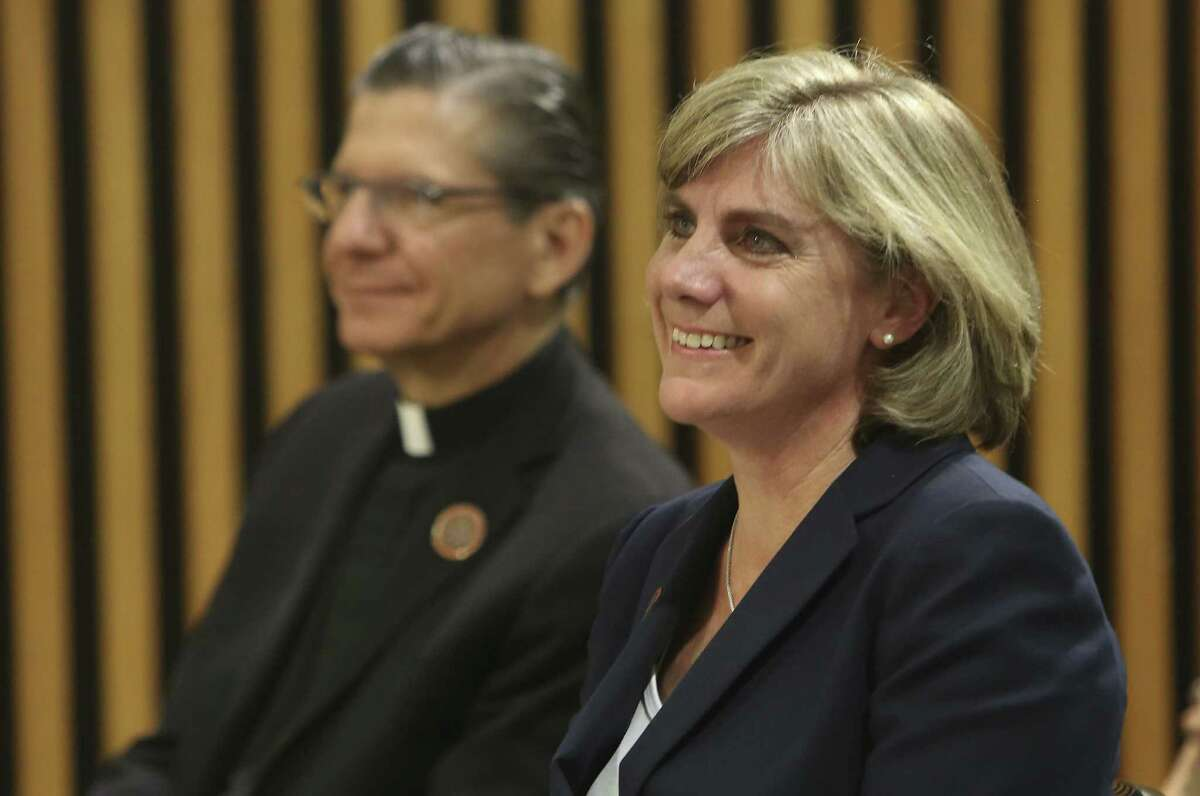 Archbishop Gustavo García-Siller announces the appointment of Marti West as superintendent of Catholic schools.