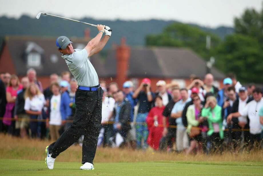 HOYLAKE, ENGLAND - JULY 19:  Rory McIlroy of Northern Ireland hits a shot on the 17th hole during the third round of The 143rd Open Championship at Royal Liverpool on July 19, 2014 in Hoylake, England. Photo: Matthew Lewis, Getty Images / 2014 Getty Images