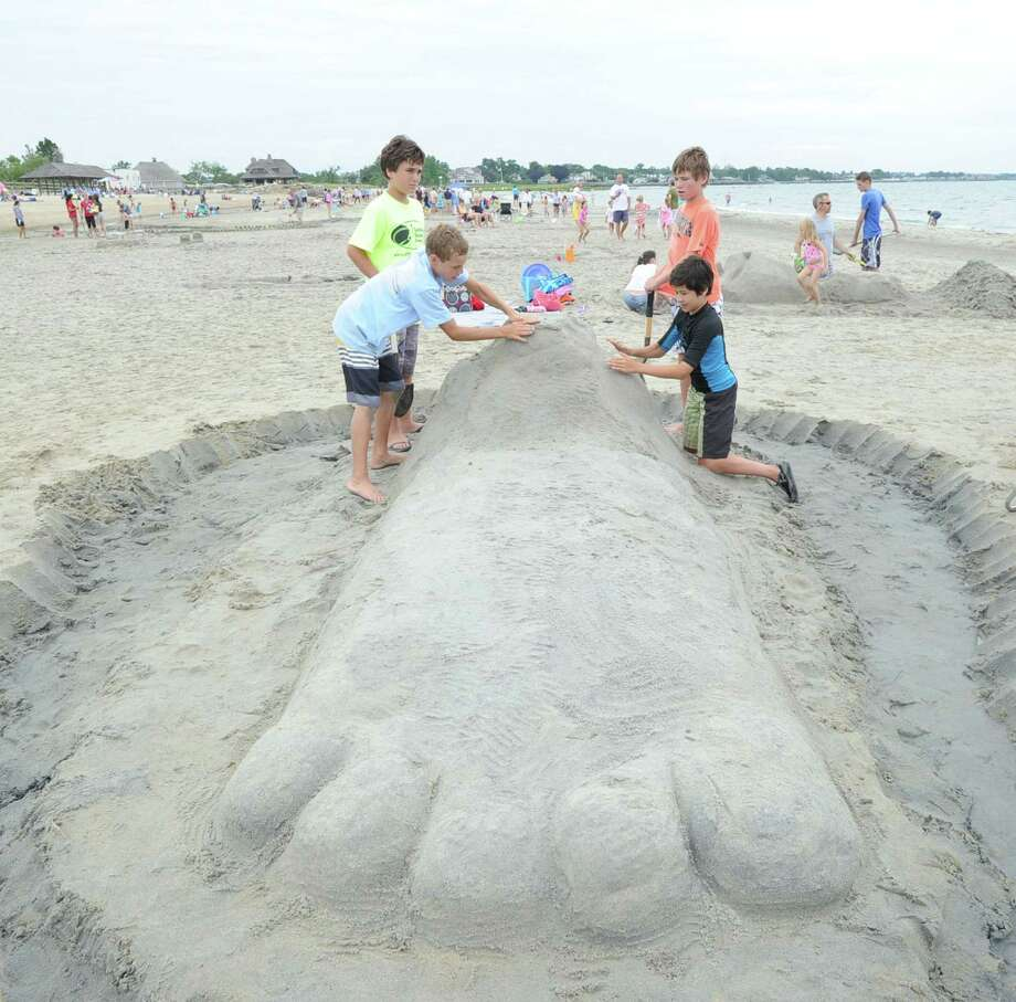 The Greenwich Arts Council and the Town of Greenwich Department of Parks and Recreation's Sandblast Sand Sculpture Festival at Greenwich Point, Saturday afternoon, July 19, 2014. Photo: Bob Luckey / Greenwich Time