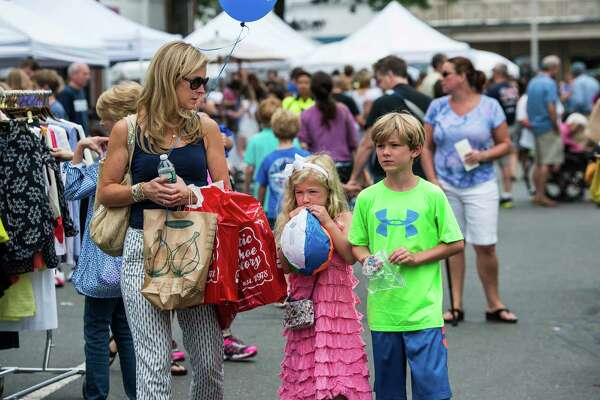 Annual New Canaan Village Fair & Sidewalk Sale, New Canaan, CT Saturday, July, 19th, 2014.