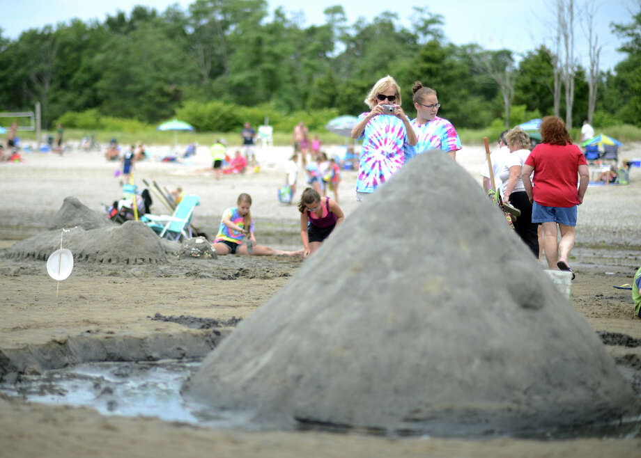 Milford Arts Council's Sand Sculpture Competition takes place Saturday, July 19, 2014, at Walnut Beach in Milford, Conn. Photo: Autumn Driscoll / Connecticut Post