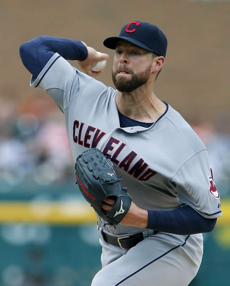 Cleveland's Corey Kluber struck out 10 in 82/3 innings in a win over Detroit. Photo: Duane Burleson, Getty Images