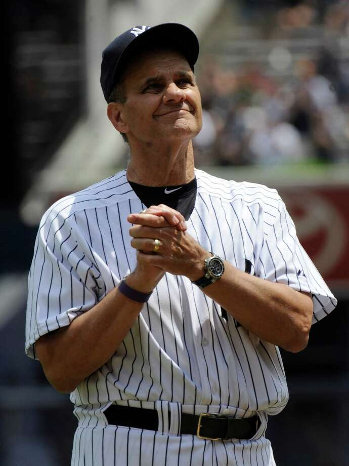 FILE - In th is June 26, 2011, file photo, former New York Yankees manager Joe Torre reacts to applause during Old Timers' Day ceremonies at Yankee Stadium in New York. The Yankees will retire Torre's No. 6 during a ceremony in Monument Park on Aug. 23, leaving Derek Jeter's No. 2 as the last single digit in New York's pinstripes.  (AP Photo/Bill Kostroun, File) ORG XMIT: NY150 Photo: Bill Kostroun / FR51951 AP