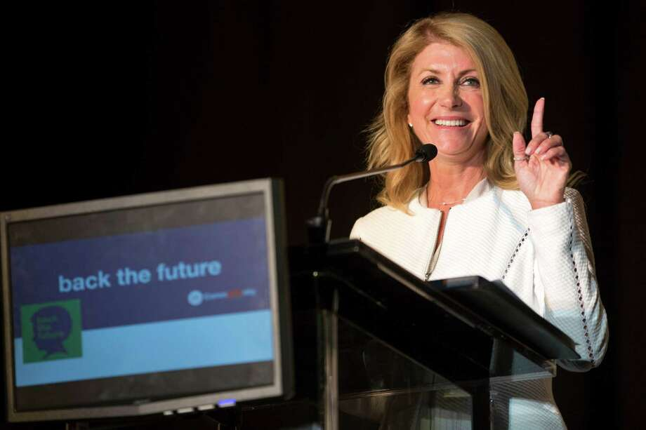 "State Sen. Wendy Davis, D-Fort Worth, pledged to restore ""every dollar"" cut from schools. Photo: Brett Coomer, Staff / © 2014 Houston Chronicle"