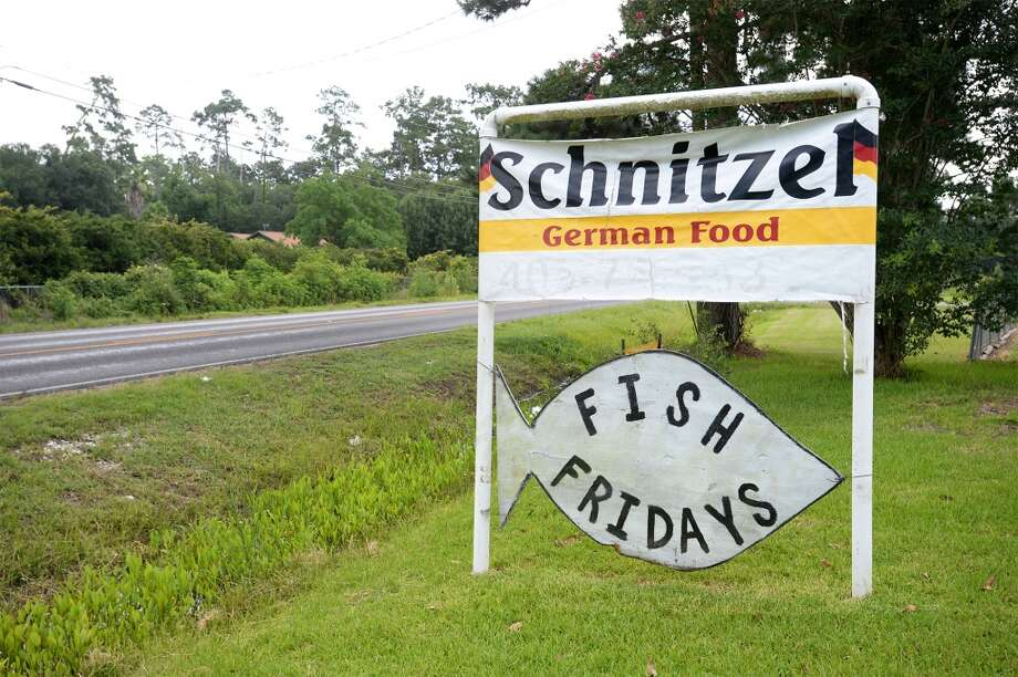 Schnitzel in Vidor. The German style restaurant offers schnitzel, kraut and sausage. Photo taken Monday, July 07, 2014 Guiseppe Barranco/@spotnewsshooter