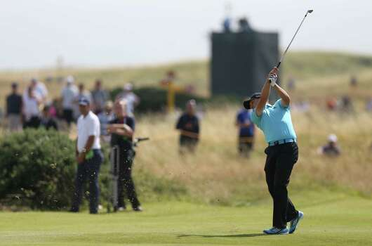 Sergio Garcia of Spain plays a shot on the 8th fairway during the final round of the British Open Golf championship at the Royal Liverpool golf club, Hoylake, England, Sunday July 20, 2014. (AP Photo/Scott Heppell) Photo: Scott Heppell, Associated Press / AP