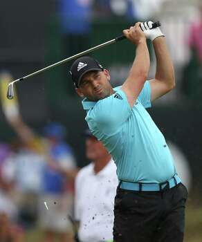 Sergio Garcia of Spain plays his shot from the 4th tee during the final round of the British Open Golf championship at the Royal Liverpool golf club, Hoylake, England, Sunday July 20, 2014. (AP Photo/Scott Heppell) Photo: Scott Heppell, Associated Press / AP