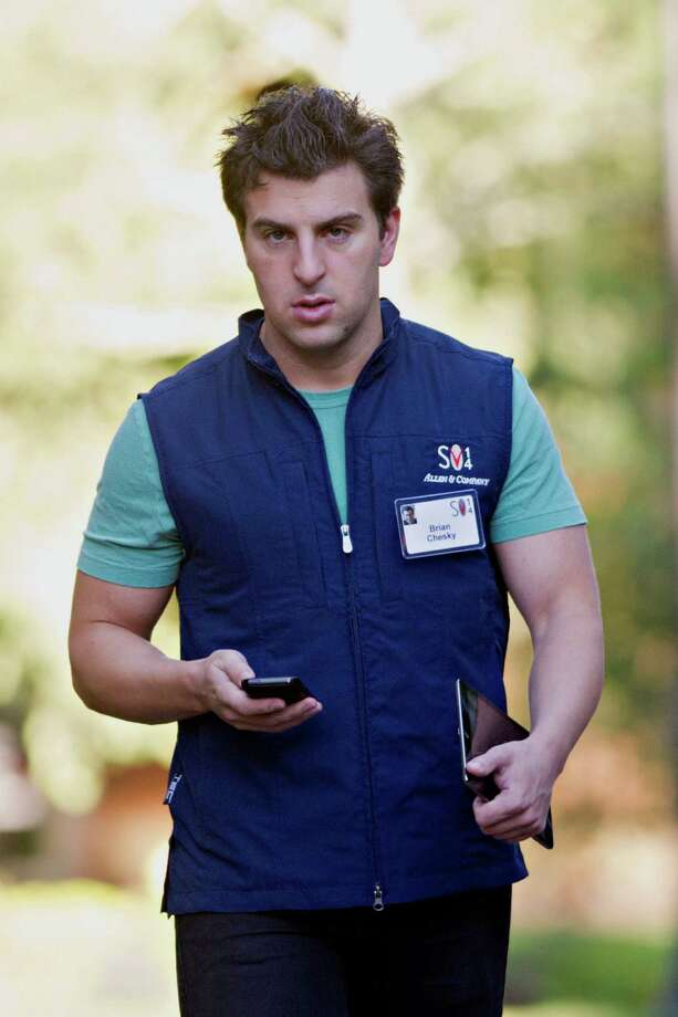 Brian Chesky, co-founder and chief executive officer of Airbnb Inc., arrives for a morning session during the Allen & Co. Media and Technology Conference in Sun Valley, Idaho, earlier this month. Photo: Daniel Acker, Bloomberg / © 2014 Bloomberg Finance LP